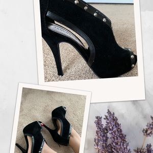 Dollhouse black studded bootie/heels!